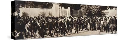 Mussolini leading a march through Rome, Italy, 1922-Unknown-Stretched Canvas Print