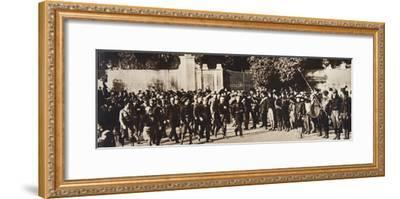 Mussolini leading a march through Rome, Italy, 1922-Unknown-Framed Photographic Print