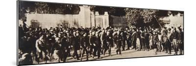Mussolini leading a march through Rome, Italy, 1922-Unknown-Mounted Photographic Print
