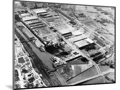 The Volkswagen factory at Wolfsburg, Germany, 1960s-Unknown-Mounted Photographic Print