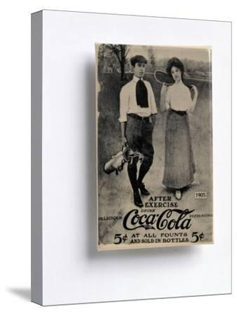 Coca-Cola advertisement with a golfing theme, c1905-Unknown-Stretched Canvas Print