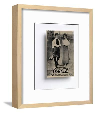 Coca-Cola advertisement with a golfing theme, c1905-Unknown-Framed Giclee Print
