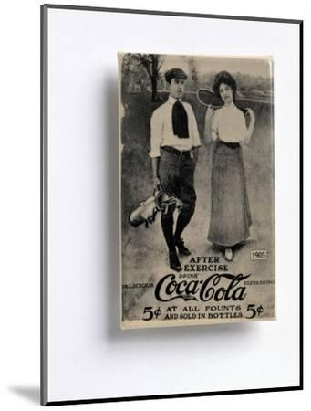 Coca-Cola advertisement with a golfing theme, c1905-Unknown-Mounted Giclee Print