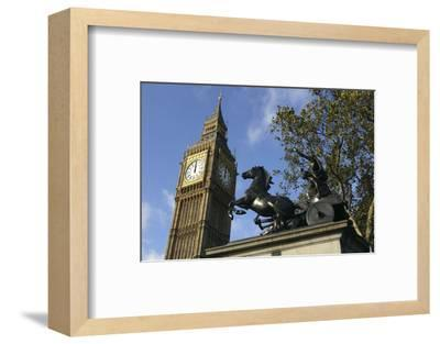 Big Ben stopped, Palace of Westminster, London, 2005-Unknown-Framed Photographic Print