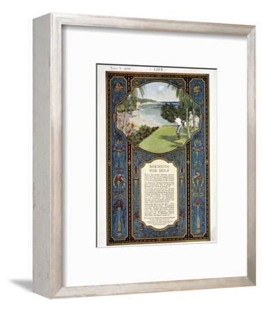 Advert for golf courses in Bermuda, January 3rd 1924-Unknown-Framed Giclee Print