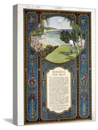Advert for golf courses in Bermuda, January 3rd 1924-Unknown-Stretched Canvas Print