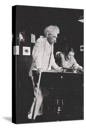 Mark Twain, American author, playing pool, c1900s(?)-Unknown-Stretched Canvas Print