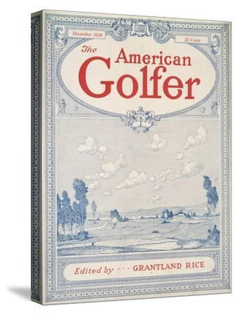 Cover of The American Golfer magazine, December 1928-Unknown-Stretched Canvas Print