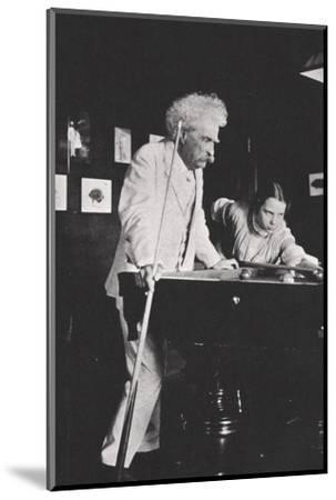 Mark Twain, American author, playing pool, c1900s(?)-Unknown-Mounted Photographic Print