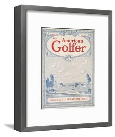 Cover of The American Golfer magazine, December 1928-Unknown-Framed Giclee Print