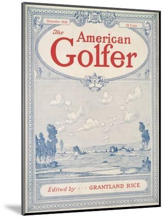 Cover of The American Golfer magazine, December 1928-Unknown-Mounted Giclee Print