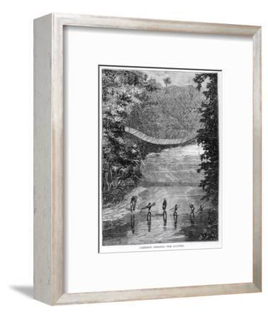 Crossing the Lulindi, Verney Lovett Cameron (1844-94)-Unknown-Framed Giclee Print