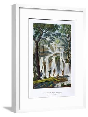 Waterfall of Port Praslin, New Ireland, 19th century-Unknown-Framed Giclee Print