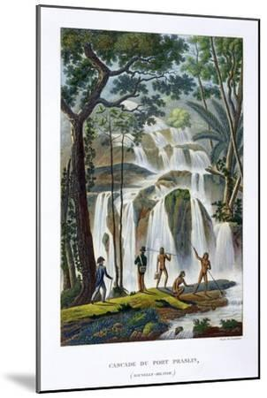Waterfall of Port Praslin, New Ireland, 19th century-Unknown-Mounted Giclee Print