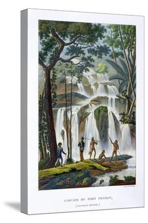Waterfall of Port Praslin, New Ireland, 19th century-Unknown-Stretched Canvas Print