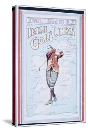 Postcard advertising golfing trips to Ireland, c1910-Unknown-Stretched Canvas Print