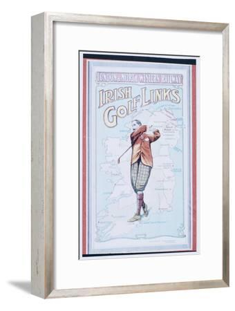 Postcard advertising golfing trips to Ireland, c1910-Unknown-Framed Giclee Print