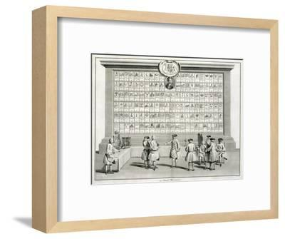 Freemasons, with signs for the various lodges, c1733-Unknown-Framed Giclee Print