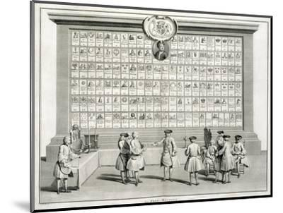 Freemasons, with signs for the various lodges, c1733-Unknown-Mounted Giclee Print