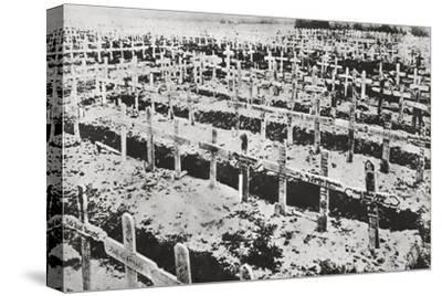 A German cemetery in France, World War I, c1914-c1918-Unknown-Stretched Canvas Print