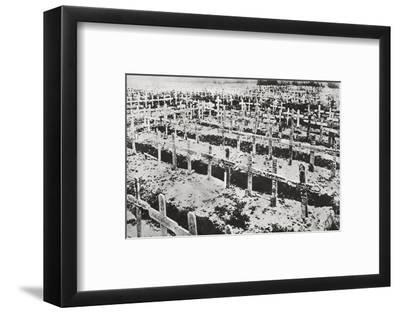 A German cemetery in France, World War I, c1914-c1918-Unknown-Framed Photographic Print