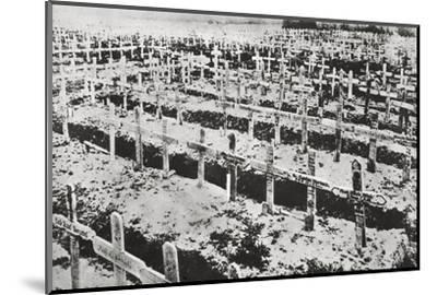A German cemetery in France, World War I, c1914-c1918-Unknown-Mounted Photographic Print