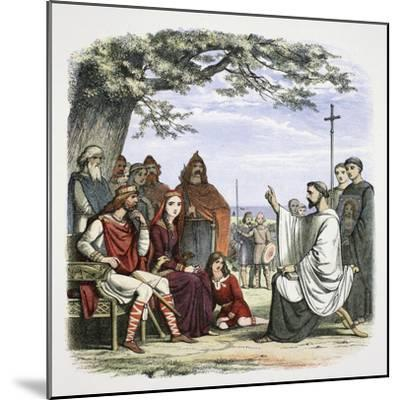 Augustine preaching before King Ethelbert, 597 (1864)-James William Edmund Doyle-Mounted Giclee Print
