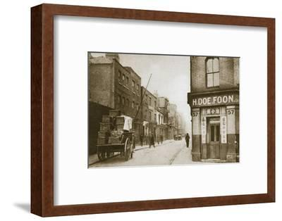 A view of Pennyfields, Chinatown, London, 20th century-Unknown-Framed Photographic Print