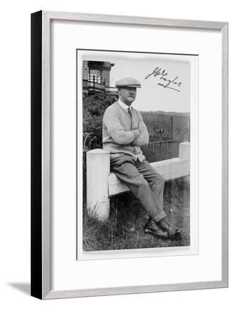 JH Taylor (1871-1963), five times Open champion, c1940-Unknown-Framed Giclee Print