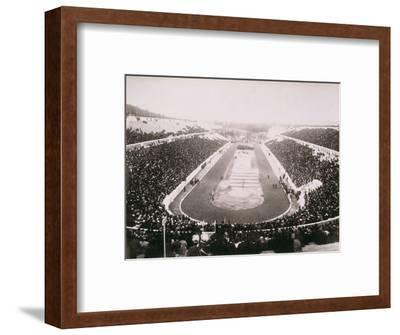 View of the first modern Olympic Games in Athens, 1896-Unknown-Framed Photographic Print