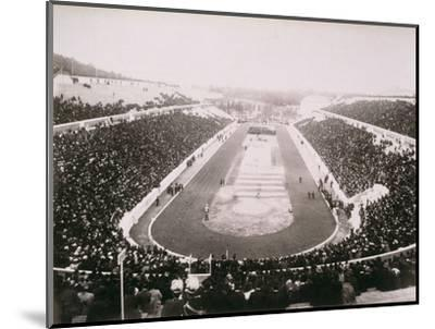 View of the first modern Olympic Games in Athens, 1896-Unknown-Mounted Photographic Print