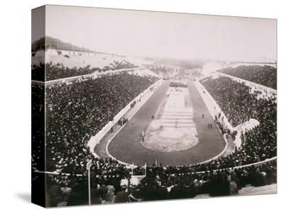 View of the first modern Olympic Games in Athens, 1896-Unknown-Stretched Canvas Print
