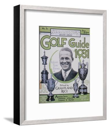 Golf Guide 1931, featuring Bobby Jones, American, 1931-Unknown-Framed Giclee Print
