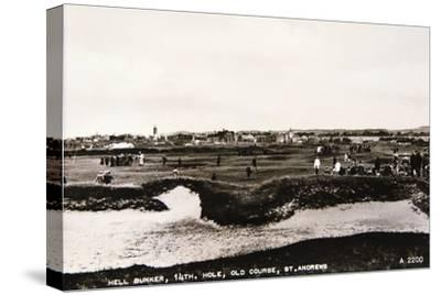 'Hell Bunker, 14th hole, Old Course, St Andrews', c1910-Unknown-Stretched Canvas Print