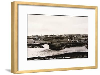 'Hell Bunker, 14th hole, Old Course, St Andrews', c1910-Unknown-Framed Giclee Print