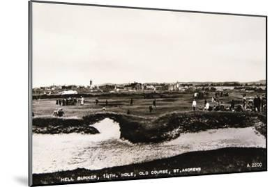 'Hell Bunker, 14th hole, Old Course, St Andrews', c1910-Unknown-Mounted Giclee Print