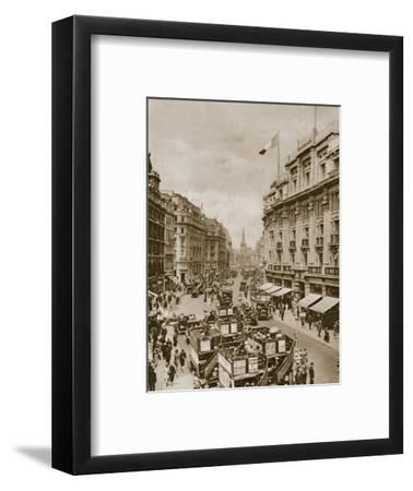 Upper part of Regent's Street, London, c1910s-c1920s(?)-Unknown-Framed Photographic Print