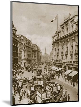 Upper part of Regent's Street, London, c1910s-c1920s(?)-Unknown-Mounted Photographic Print