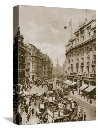 Upper part of Regent's Street, London, c1910s-c1920s(?)-Unknown-Stretched Canvas Print