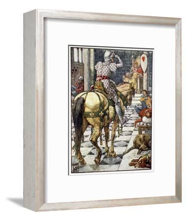 'Percival Obtains the Shield of the Beating Heart', 1911-Unknown-Framed Giclee Print