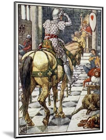 'Percival Obtains the Shield of the Beating Heart', 1911-Unknown-Mounted Giclee Print