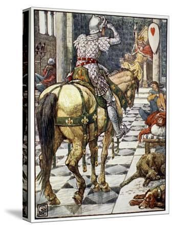 'Percival Obtains the Shield of the Beating Heart', 1911-Unknown-Stretched Canvas Print