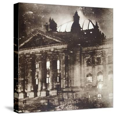 The Reichstag on fire, Berlin, Germany, 27 February 1933-Unknown-Stretched Canvas Print