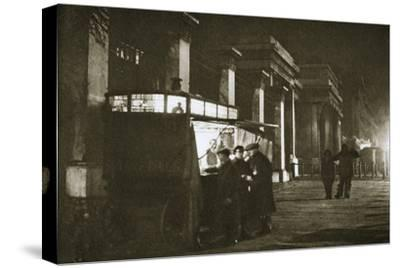 A coffee stall at Hyde Park Corner, London, 20th century-Unknown-Stretched Canvas Print