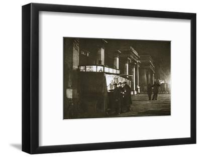 A coffee stall at Hyde Park Corner, London, 20th century-Unknown-Framed Photographic Print