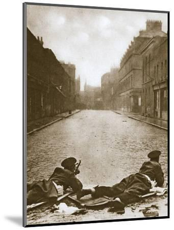 Scots Guards keeping guard on Sydney Street, London, 1911-Unknown-Mounted Photographic Print