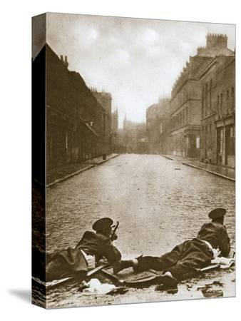 Scots Guards keeping guard on Sydney Street, London, 1911-Unknown-Stretched Canvas Print