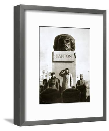 Lenin unveiling the Danton monument, Moscow, Russia, 1919-Unknown-Framed Photographic Print