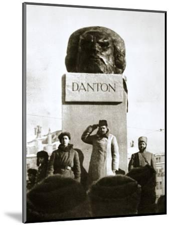 Lenin unveiling the Danton monument, Moscow, Russia, 1919-Unknown-Mounted Photographic Print