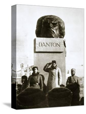 Lenin unveiling the Danton monument, Moscow, Russia, 1919-Unknown-Stretched Canvas Print